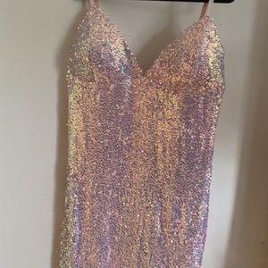 Fashion Nova Curve Sequined Party Dress